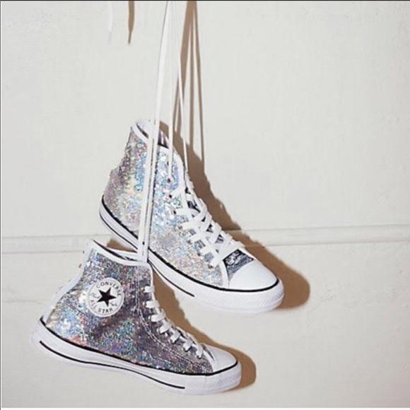 Iridescent Silver Sequin Sneaker | Poshmark